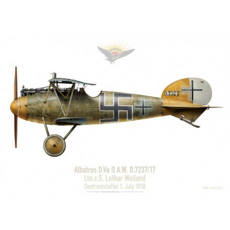 Albatros D.Va O.A.W., Ltn. z. S. Lothar Weiland, Seefrontstaffel, juillet 1918