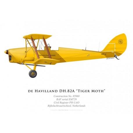 Tiger Moth N8233, Rijksluchtvaartschool, Pays-Bas
