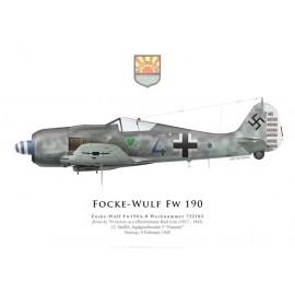 Fw 190A-8, Oblt. Rudi Linz, 12./JG 5, février 1945
