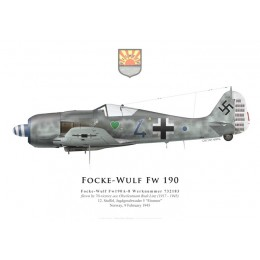 Fw 190A-8, Oblt. Rudi Linz, 12./JG 5, February 1945