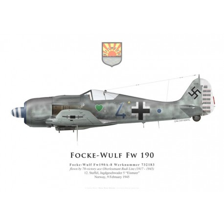 Focke-Wulf Fw 190A-8, Oblt. Rudi Linz, 12./JG 5, February 1945