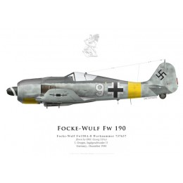Fw 190A-8, Oblt Georg Ulrici, I./JG 11, December 1944