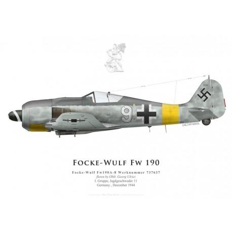 Focke-Wulf Fw 190A-8 737637, Oblt. Georg Ulrici, I./JG 11, December 1944