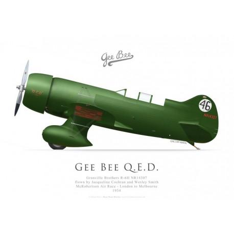 Gee Bee QED, Jacky Cochran & Wesley Smith, 1934 MacRobertson race