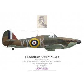 "Hawker Hurricane Mk I, F/L Geoffrey ""Sammy"" Allard DFC, DFM & Bar, No 85 Squadron, Royal Air Force, juillet-août 1940"