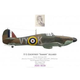 "Hawker Hurricane Mk I, F/L Geoffrey ""Sammy"" Allard DFC, DFM & Bar, No 85 Squadron, Royal Air Force, juillet-août 1940"