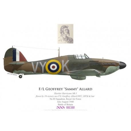 """Hawker Hurricane Mk I, F/L Geoffrey """"Sammy"""" Allard DFC, DFM & Bar, No 85 Squadron, Royal Air Force, July-August 1940"""