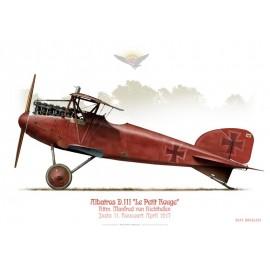 """Albatros D.III, Rttm. Manfred von Rochthofen """"Le Baron Rouge"""", Jasta 11, Rocourt, avril 1917"""