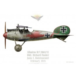 Albatros D.V, Oblt. Richard Flasher, commandant de la Jasta 5, Boistrancourt, février 1918