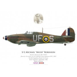 Hawker Hurricane Mk I, S/L Michael Robinson, No 601 Squadron, Royal Air Force, septembre 1940