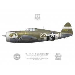 "P-47D Thunderbolt ""Touch of Texas"", Capt. Charles Mohrle, 510th FS, 405th FG, 1944"
