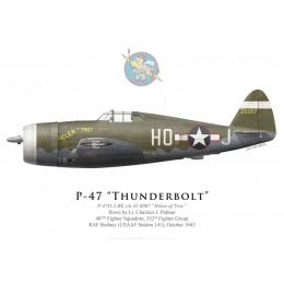"P-47D Thunderbolt ""Helen of Troy"", Lt. Clarence Palmer, 487th FS, 352nd FG, octobre 1943"