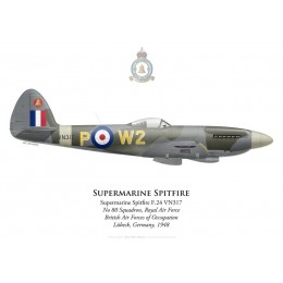 Supermarine Spitfire F.24, No 80 Squadron, Royal Air Force, Lübeck, Germany, 1948