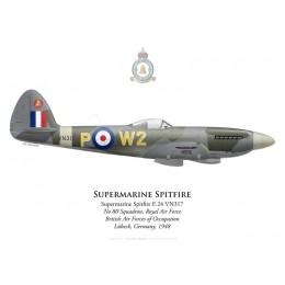 Supermarine Spitfire F.24, No 80 Squadron, Royal Air Force, Lübeck, Germany, 1948