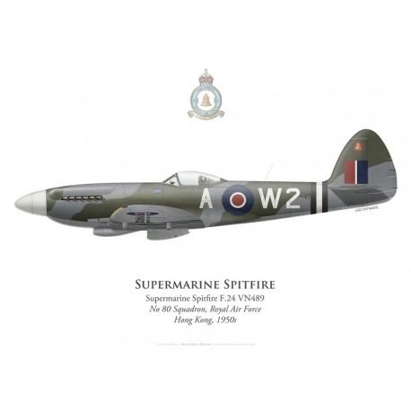 Supermarine Spitfire F.24, No 80 Squadron, Royal Air Force, Hong Kong, 1950