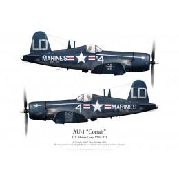Vought AU-1 Corsair 129417, VMA-212 Lancers, Corée, 1953