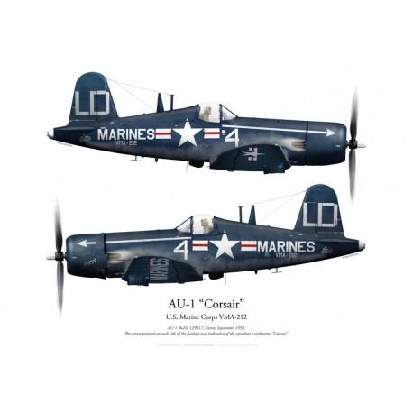 Vought AU-1 Corsair 129417, VMA-212 Lancers, Korea, 1953