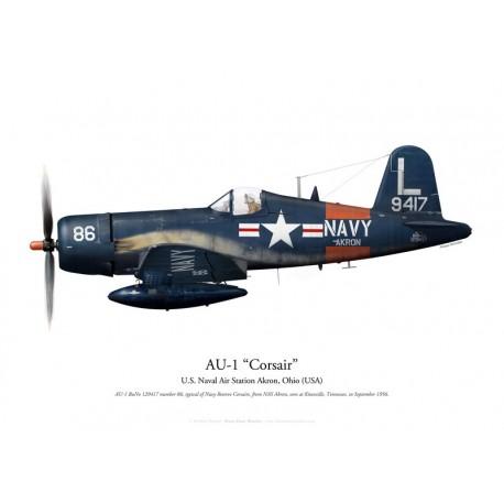 Vought AU-1 Corsair 129417, NAS Akron, 1956