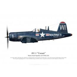 Vought AU-1 Corsair 133837, VMA-225, NAS Niagara Falls, 1952
