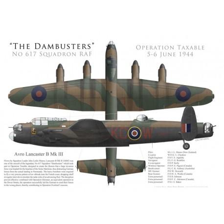 "Avro Lancaster Mk III LM482, S/L ""Les"" Munro, No 617 Squadron RAF, Operation Taxable, 5/6 juin 1944"