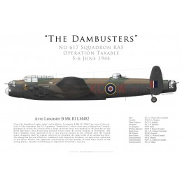"Lancaster Mk III, S/L ""Les"" Munro, No 617 Squadron RAF, Operation Taxable, 5/6 June 1944"
