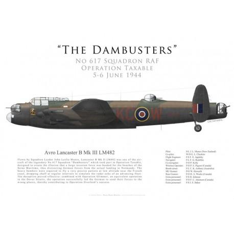 """Avro Lancaster Mk III LM482, S/L """"Les"""" Munro, No 617 Squadron RAF, Operation Taxable, 5/6 June 1944"""