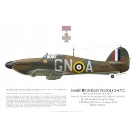 Hawker Hurricane Mk I, F/L James Nicolson VC, No 249 Squadron, Royal Air Force, 16 août 1940