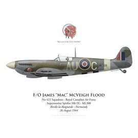 Spitfire Mk IX, F/O James Flood, No 421 Squadron, Royal Canadian Air Force, Normandie, 26 août 1944