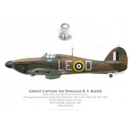 Hawker Hurricane Mk I, S/L Douglas Bader, No 242 Squadron, Royal Air Force, septembre 1940