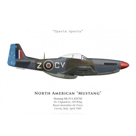 North American Mustang Mk IVA, No 3 Squadron, 239 Wing, RAAF, Italie, 1945