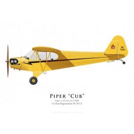 Piper J-3 Cub NC70111