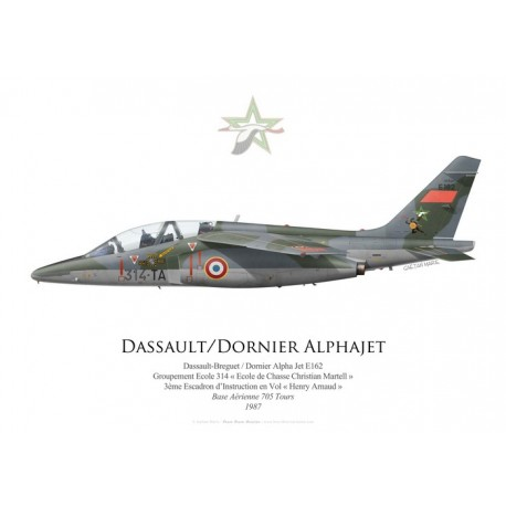 Dassault-Doriner Alpha Jet E, Groupement Ecole 314, 3ème Escadron d'Instruction en Vol, French Air Force, Tours, 1987