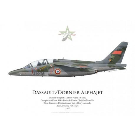 Dassault-Dornier Alpha Jet E162, Groupement Ecole 314, 3ème Escadron d'Instruction en Vol, Tours, 1987
