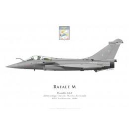Print du Dassault Rafale M5, Flottille 12.F, Aéronautique Navale, BAN Landivisiau, 2006