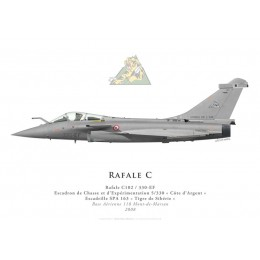 "Rafale C, ECE 5/330 ""Côte d'Argent"", French air force, 2008"