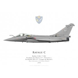 "Rafale C, EC 1/7 ""Provence"", SPA 15 ""Casque de Bayard"", BA 113 Saint-Dizier, 2008"