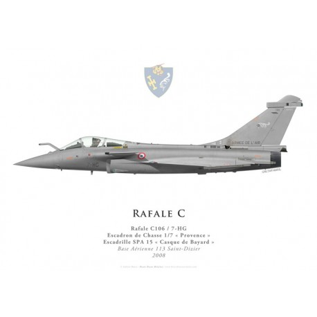 "Print of the Dassault Rafale C106, EC 1/7 ""Provence"", French air force, 2008"