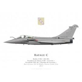 "Rafale C, EC 3/30 ""Lorraine"", BA 104 Al Dhafra, 2012"