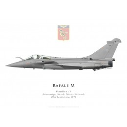 Print of the Dassault Rafale M No 29, Flottille 11.F, French naval aviation, Landivisiau naval airbase, 2010