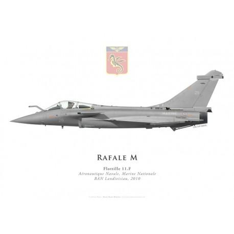 Print du Dassault Rafale M29, Flottille 11.F, BAN Landivisiau, 2010