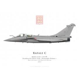 "Rafale C, EC 2/30 ""Normandie-Niémen"", BA 118 Mont-de-Marsan, 2014"