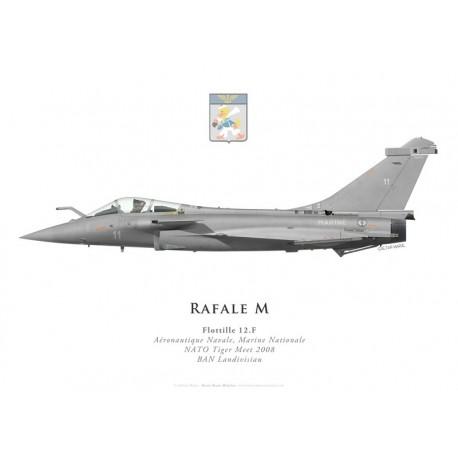 Print du Dassault Rafale M11, Flottille 12.F, BAN Landivisiau, NATO Tiger Meet 2008