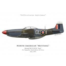 "North American Mustang Mk IV ""Impi"", No 5 Squadron SAAF, Italy, 1945"