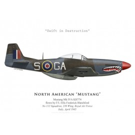 Mustang Mk IVA, No 112 Squadron, Royal Air Force, Italie, avril 1945