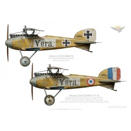 Albatros D.III, Jasta 24, avant et après capture en avril 1917