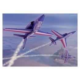 Les Alpha Jet de la Patrouille de France au Mont-Saint-Michel