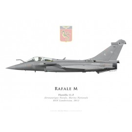 Rafale M, Flottille 11.F, French naval aviation, Landivisiau naval airbase, 2012