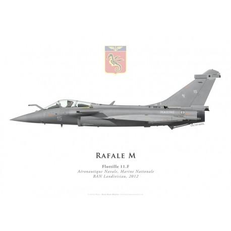 Rafale M, Flottille 11.F, French naval aviation, Landivisiau naval airbase, 2012