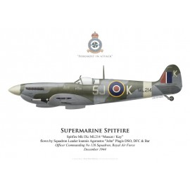 Spitfire Mk IXc, S/L John Plagis, OC No 126 Squadron, Royal Air Force, décembre 1944