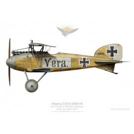 "Albatros D.III ""Vera"", Ltn. Friedrich-Wilhelm Wichard, Jasta 24, France, 1917"